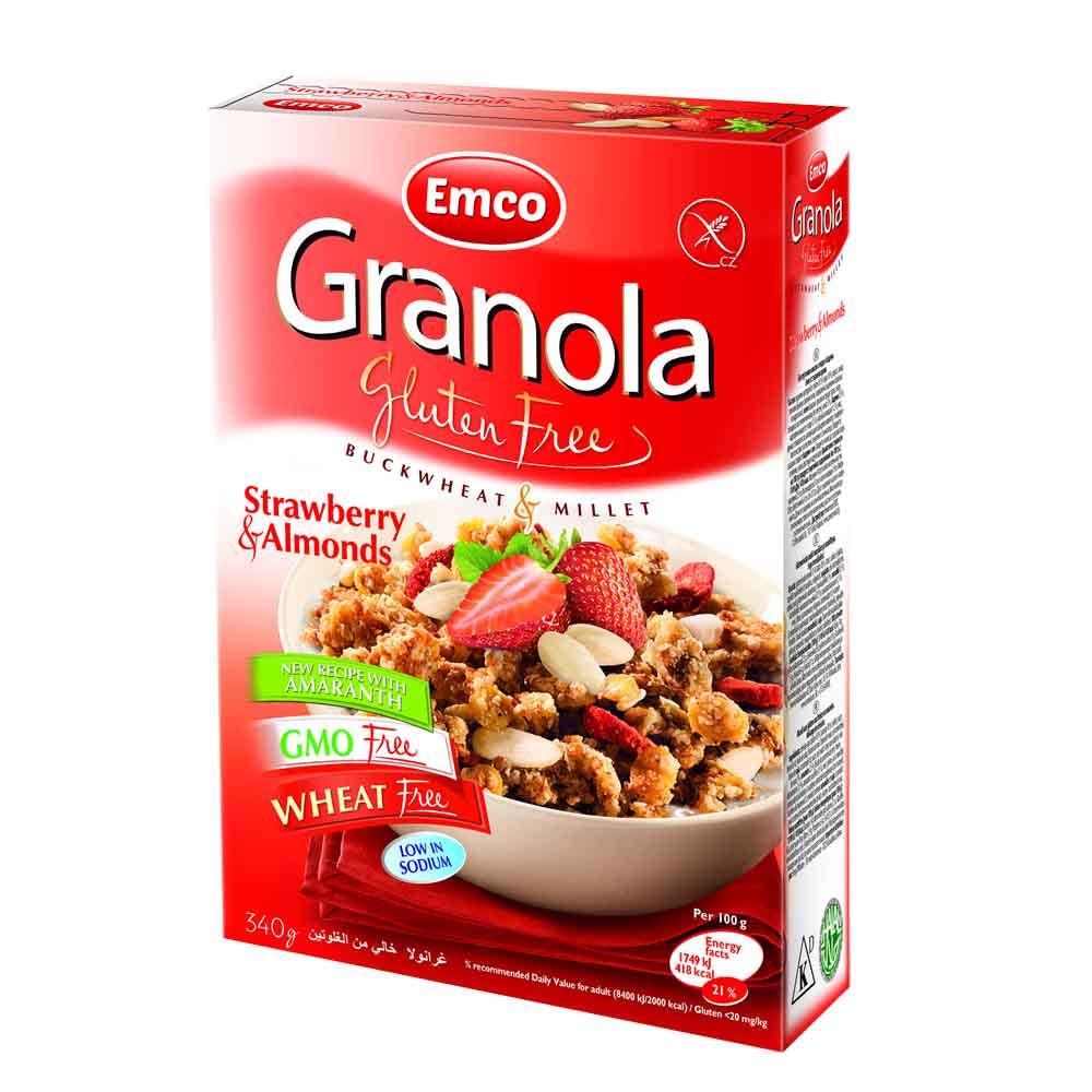 Granola con Frutillas y Almendras Libre de Gluten