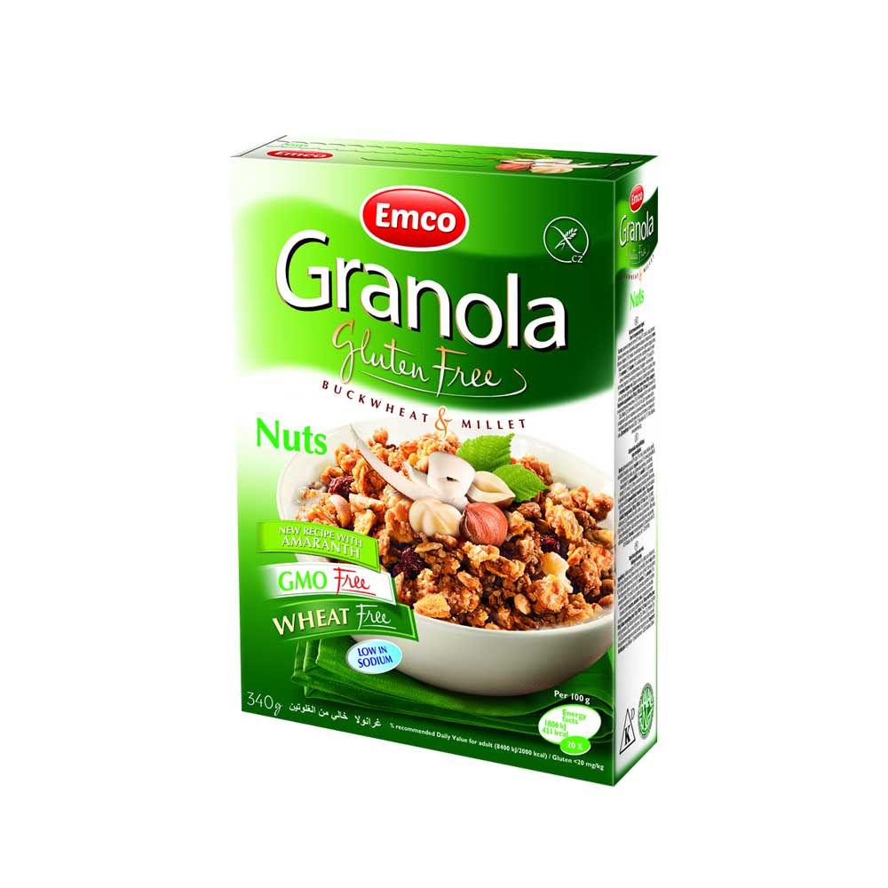 Granola con Frutis Secos Libre de Gluten