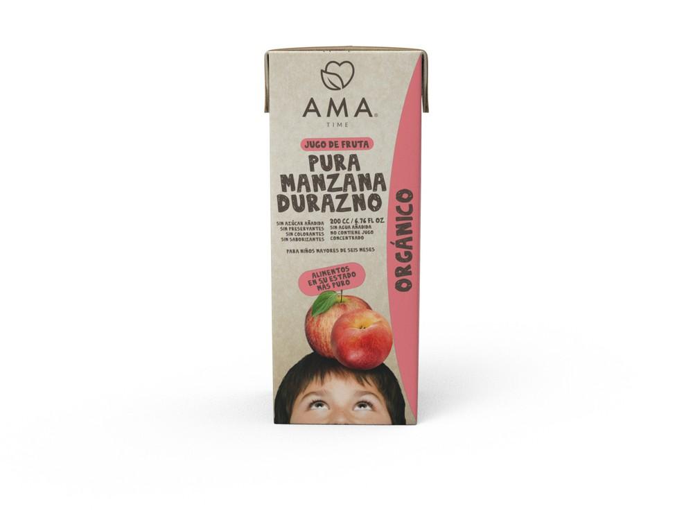 Jugo de manzana y durazno orgánico 200 ml