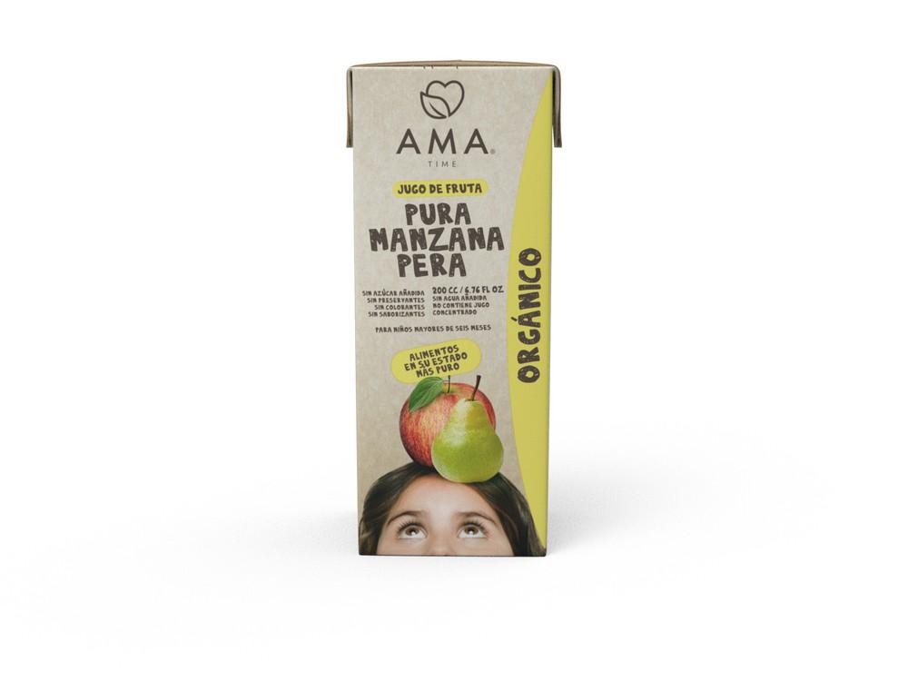 Jugo de manzana y pera orgánica 200 ml