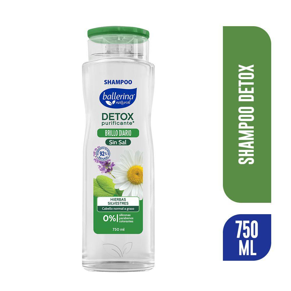 Shampoo detox hierba silvestres sin sal
