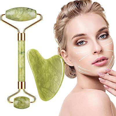 Rodillo facial + gua sha de jade