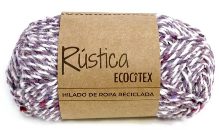 Ovillo rustica blanco + lila
