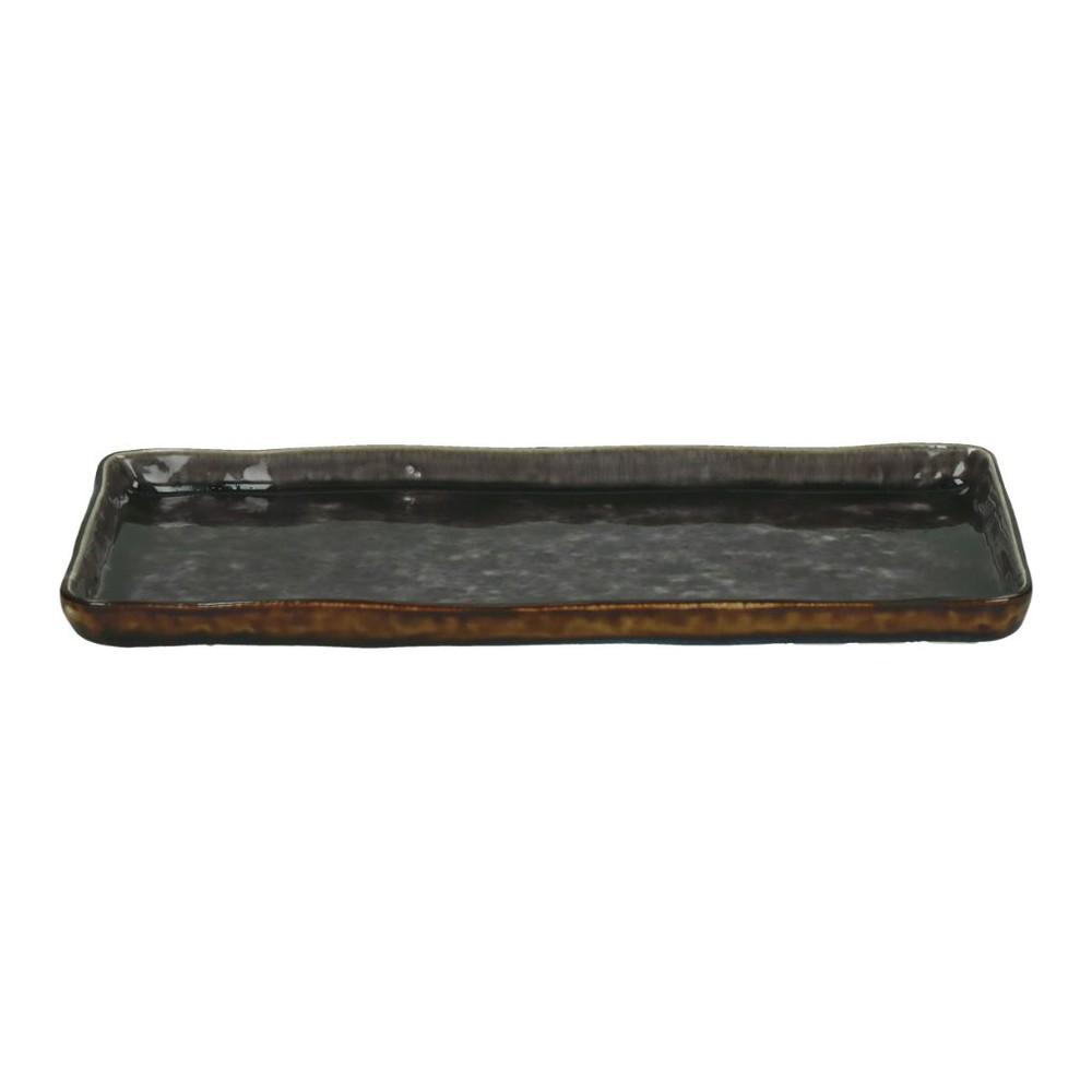 Fuente rectangular porcelana cuadrada | violeta