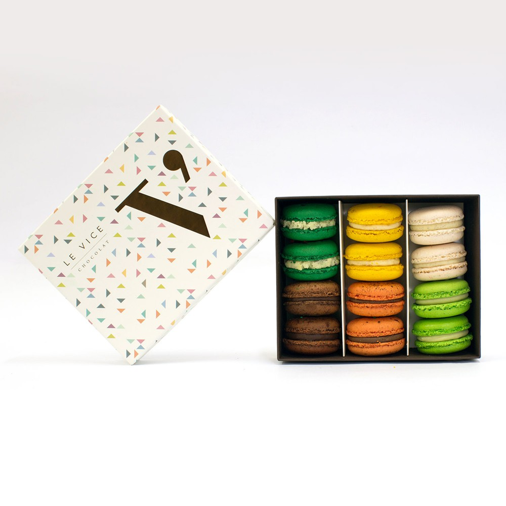 Caja 12 macarons 12 unid.