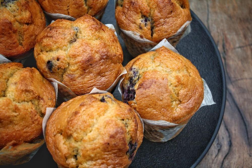 Muffin de arándanos unidad
