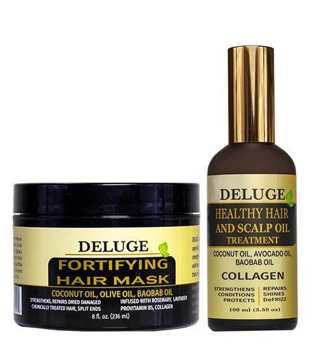 Hair mask + hair oil 8 FL OZ+100 ML