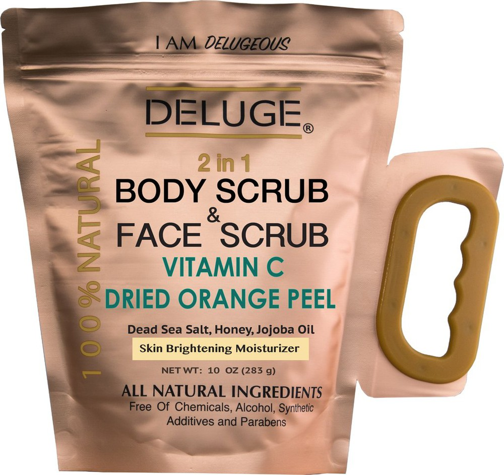 Vitamin c scrub with dried orange peel 10 OZ