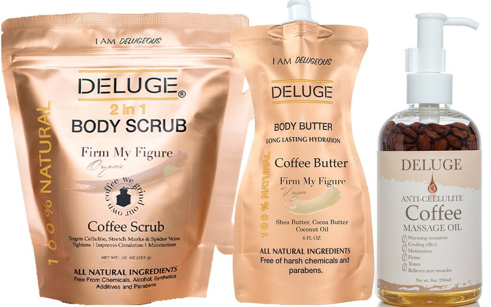 Coffee scrub - coffee butter - coffee massage oil set 1 KIT