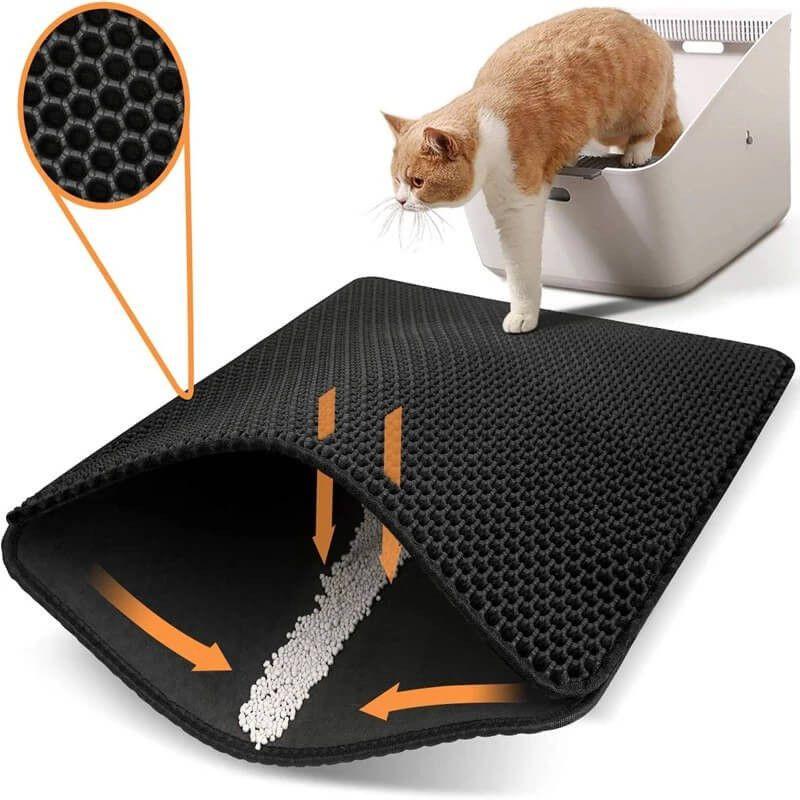 Mat baño gato