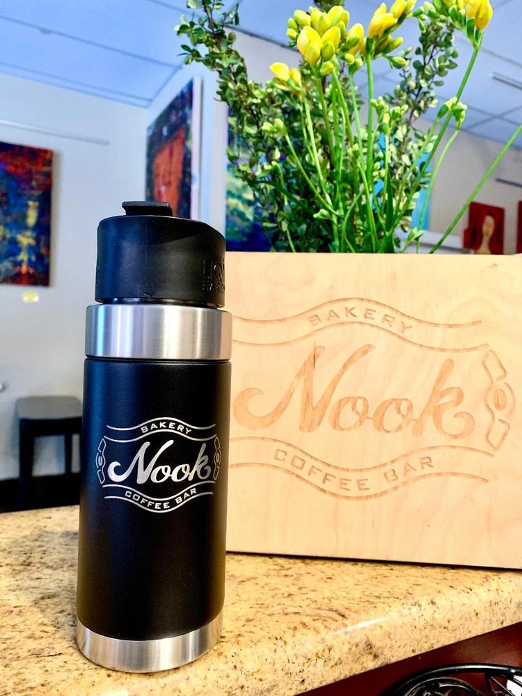 Nook travel mug with magnetic lid 16 oz
