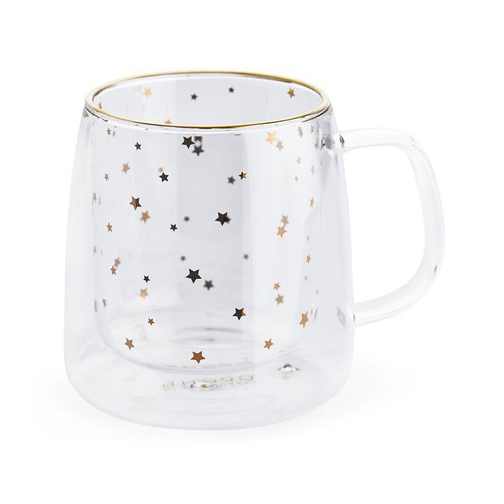 Taza doble vidrio Estrella dorada 250ml 250 ml