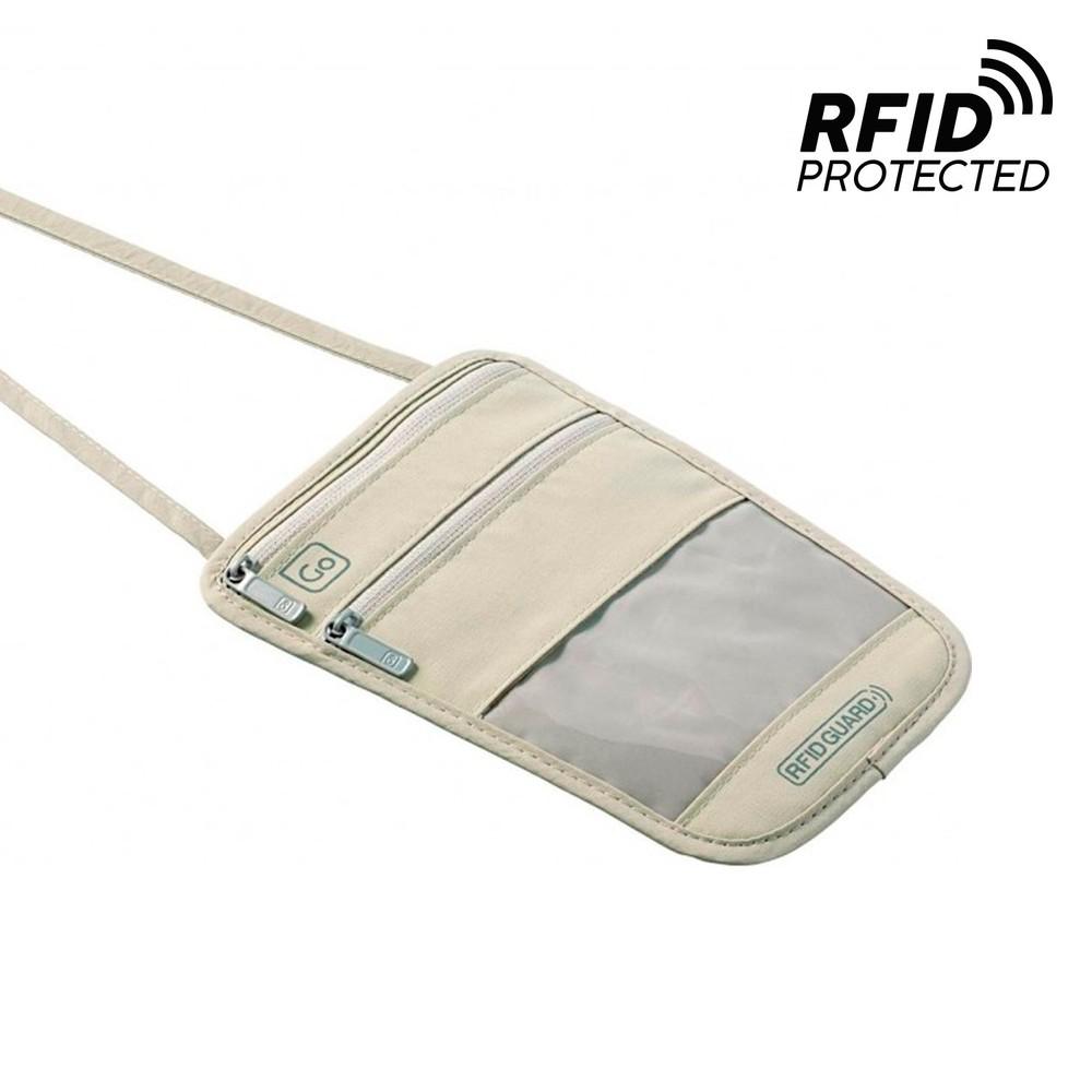 Pouch boarding boqueo rfid beige GT673BEI