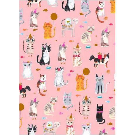 Rollo papel regalo - gatos
