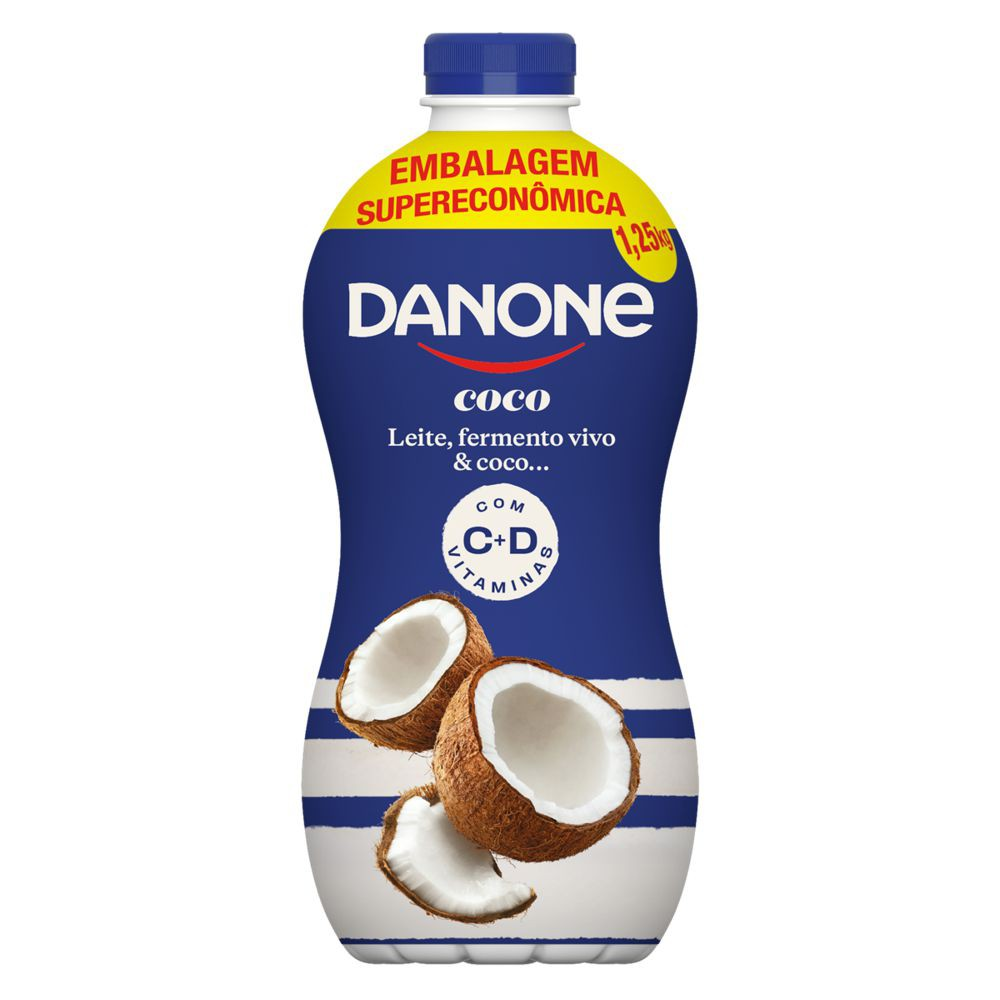 Iogurte parcialmente desnatado sabor coco