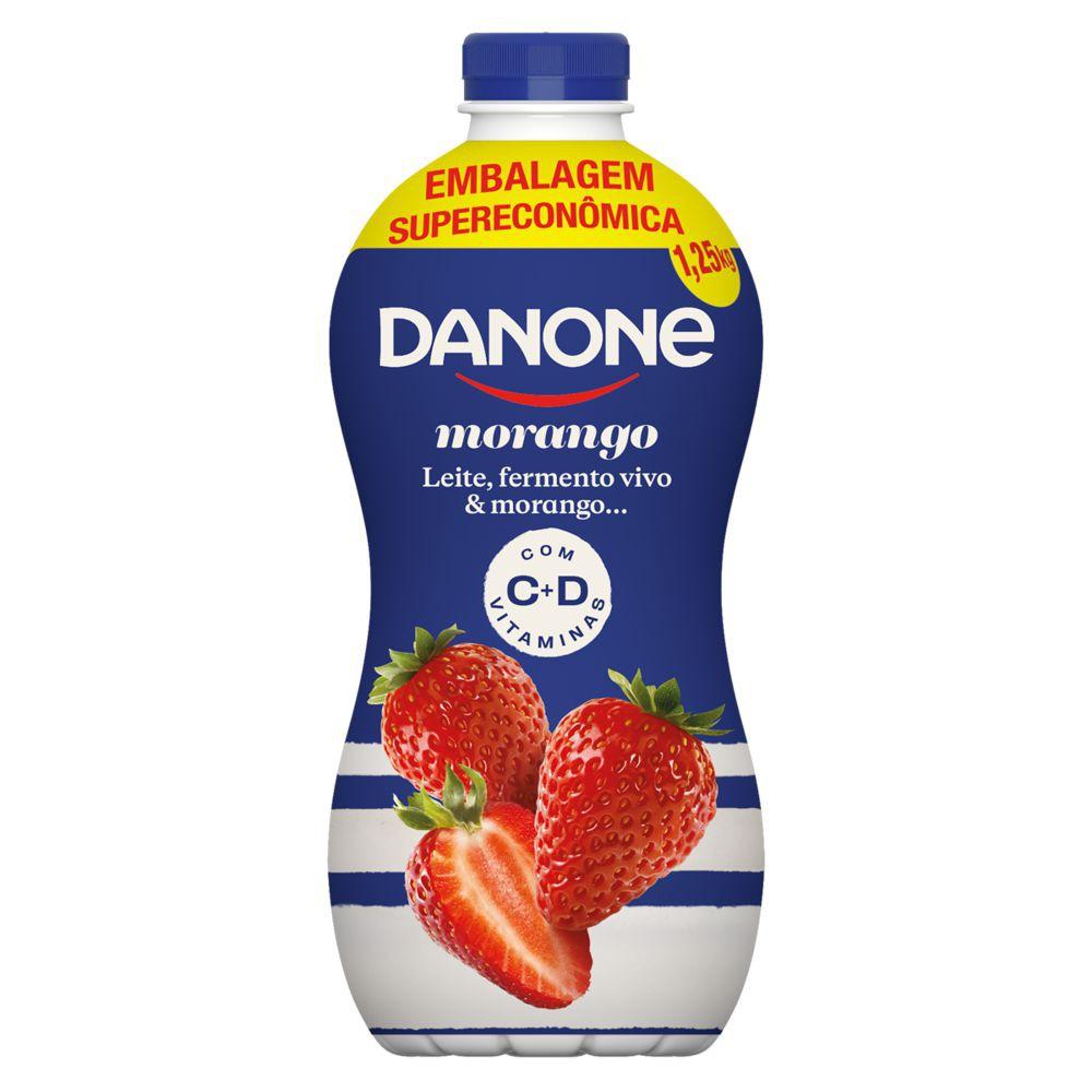 Iogurte parcialmente desnatado sabor morango