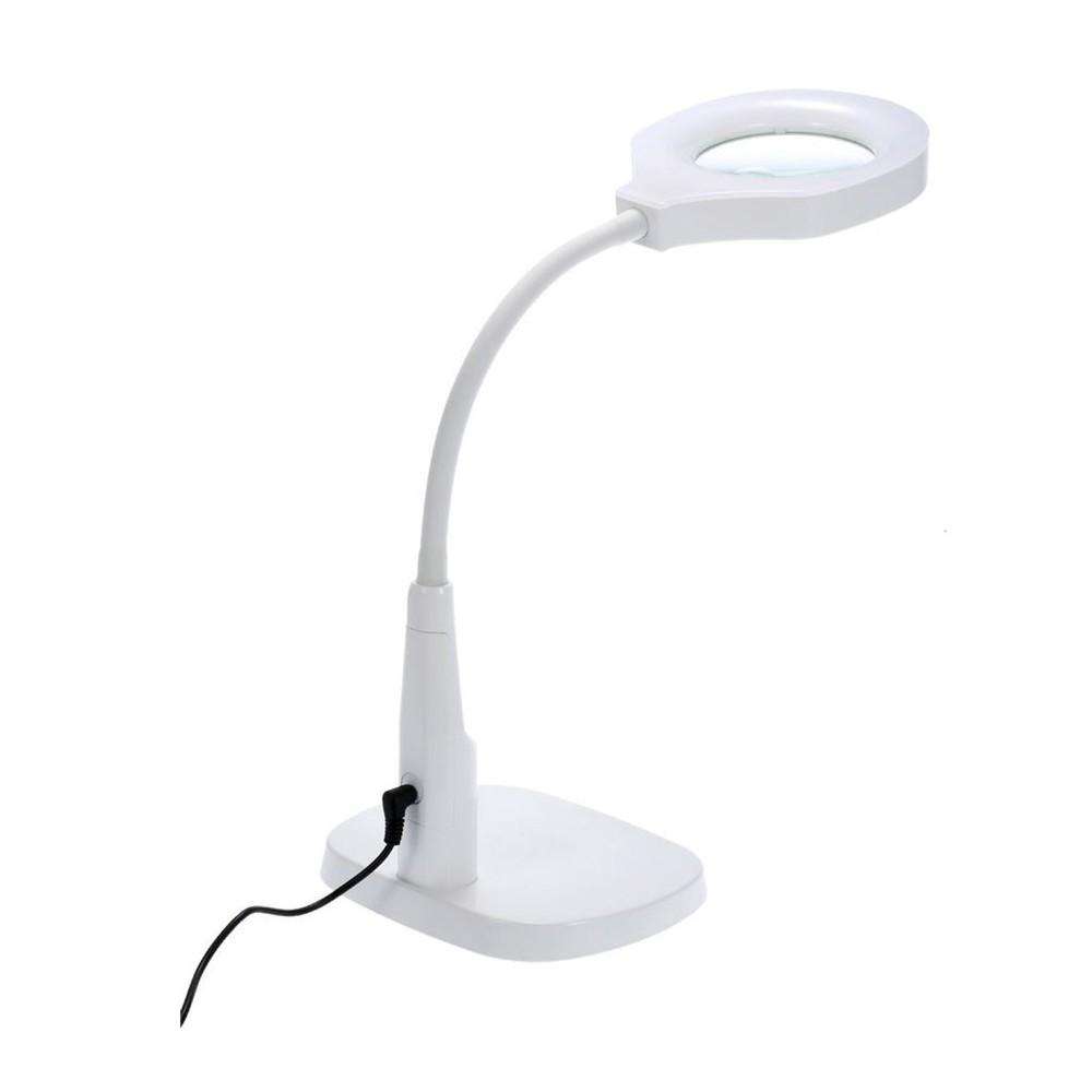 Lámpara led lupa con base y soporte de mesa