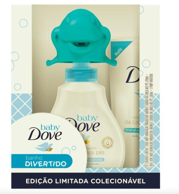 Kit baby banho divertido sabonete líquido cabeça aos pés com refil e golfinho