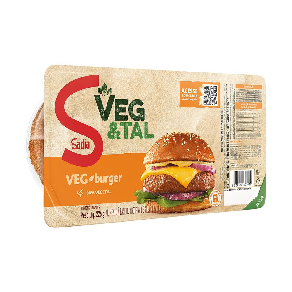 Hambúrguer vegetal Veg & Tal