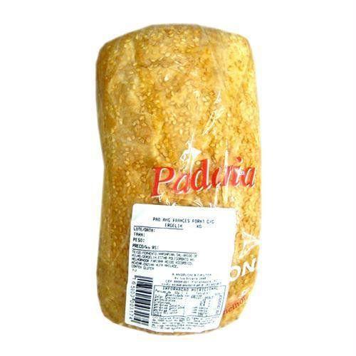 Pão francês de forma com gergelim