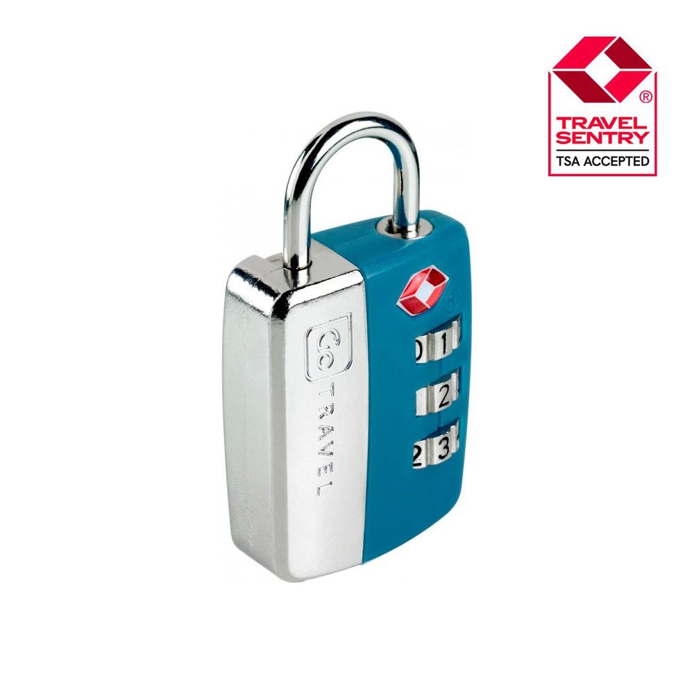 Candado tsa con clave azul GT336AZU