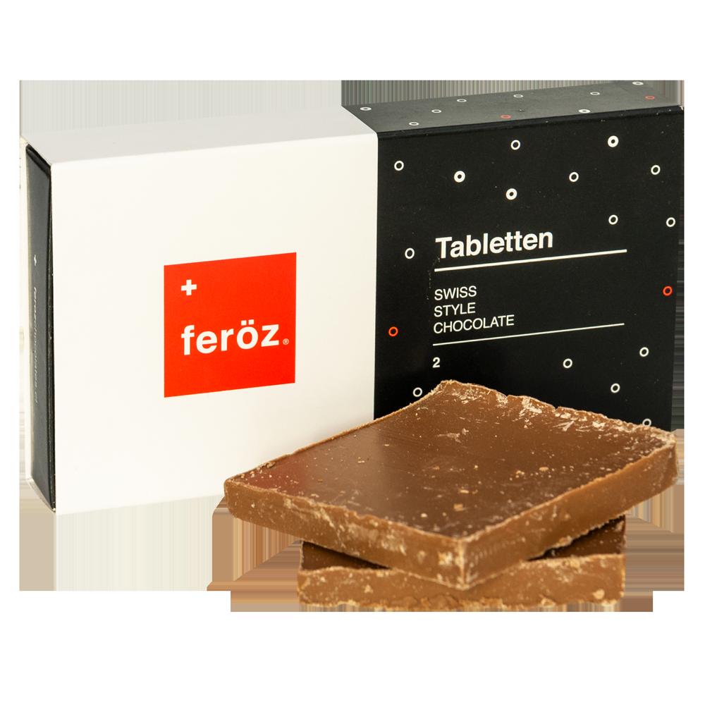 Caja 2 Tabletten - Leche (Sin Azúcar)