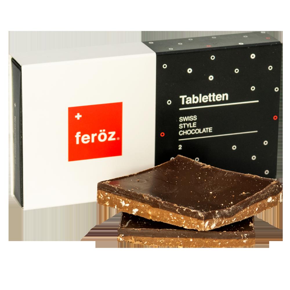 Caja 2 Tabletten - Haselnuss 60g.