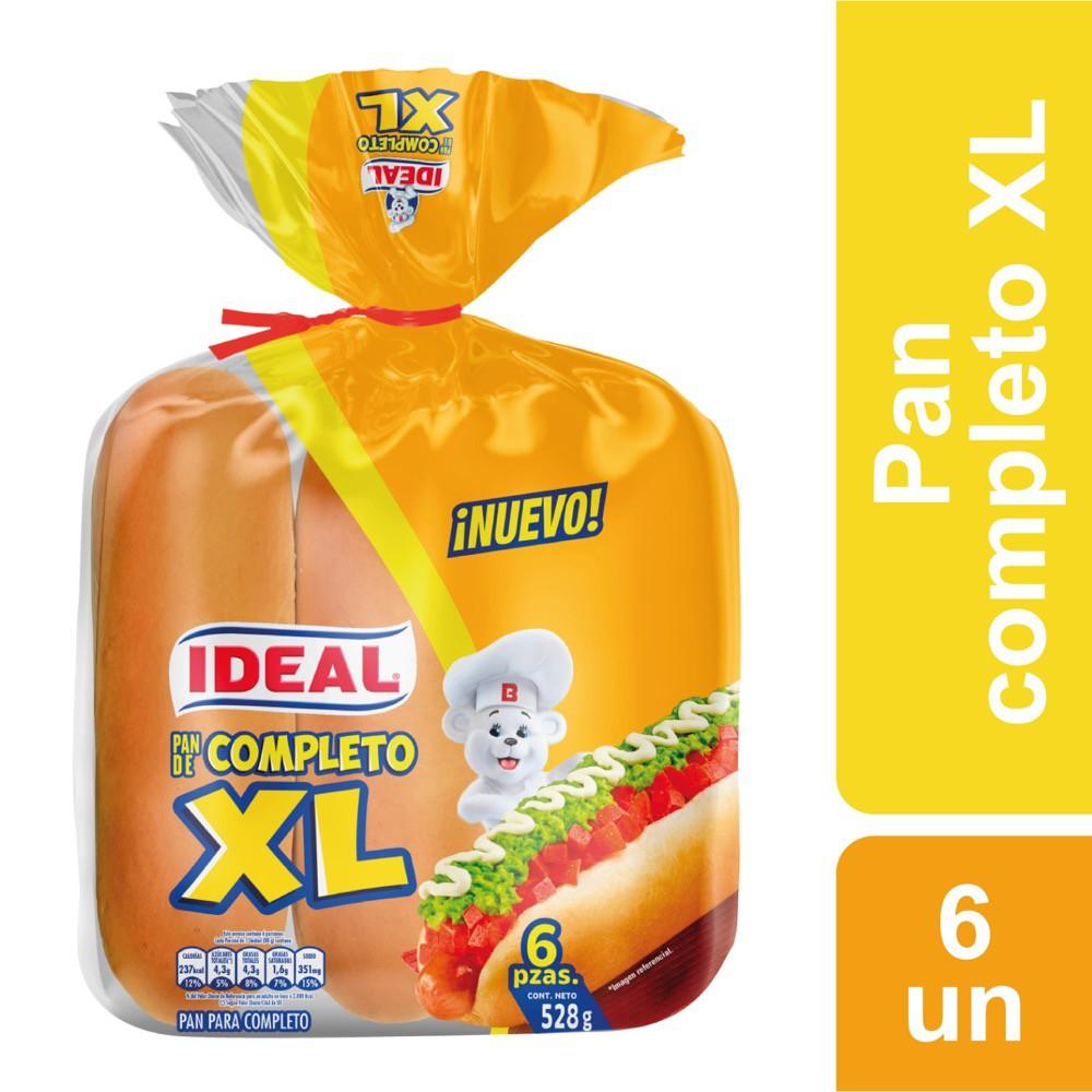 Pan para completo XL Bolsa 6 un