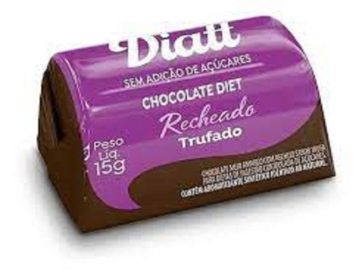 Bombom de chocolate trufado diet