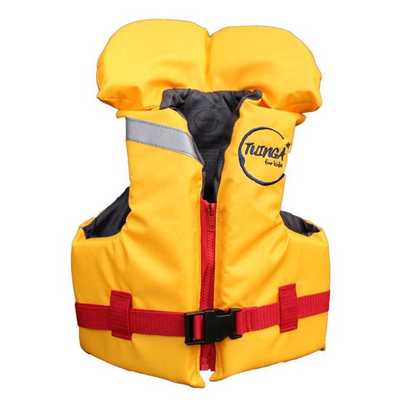 Chaleco salvavidas amarillo/rojo con cuello