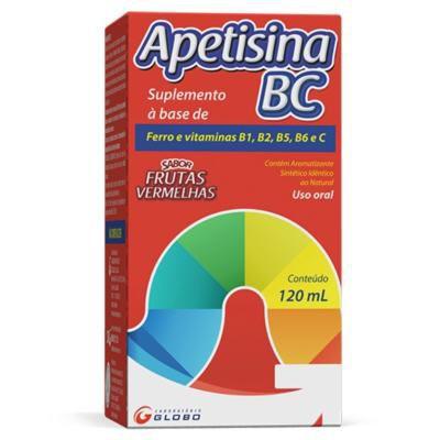 Suplemento a base de ferro e vitaminas Apetisina BC sabor morango