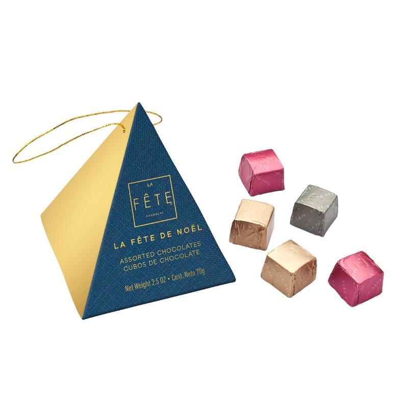 Caja Piramide Navidad