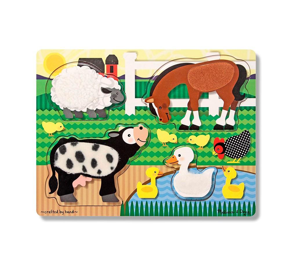 Puzzle madera granja