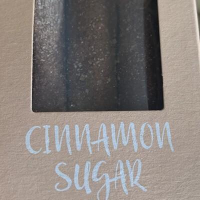 Milk chocolate covered pretzels- cinnamon sugar