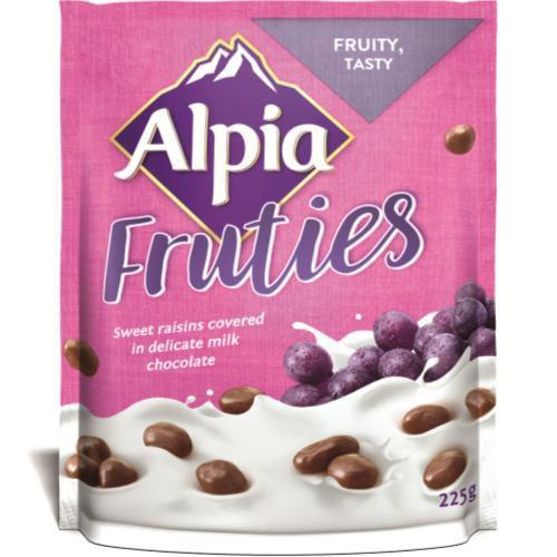 Passas cobertas com chocolate ao leite Fruties