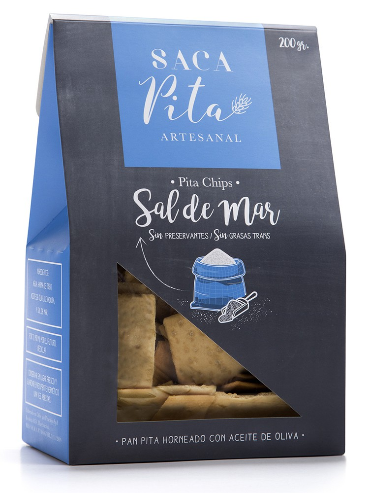 Pita chips sal de mar