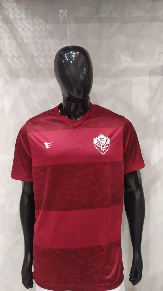 Camisa Oficial Vitória Listrada Vinho