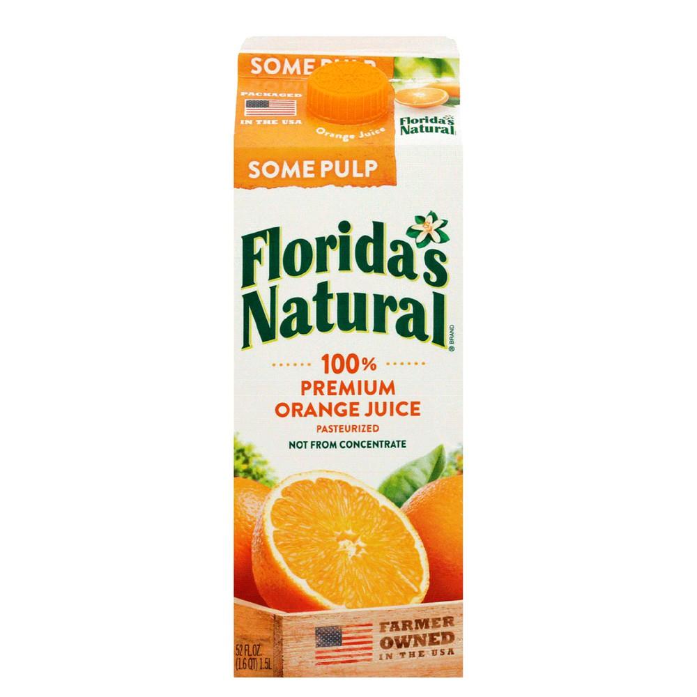 Jugo natural naranja some pulp
