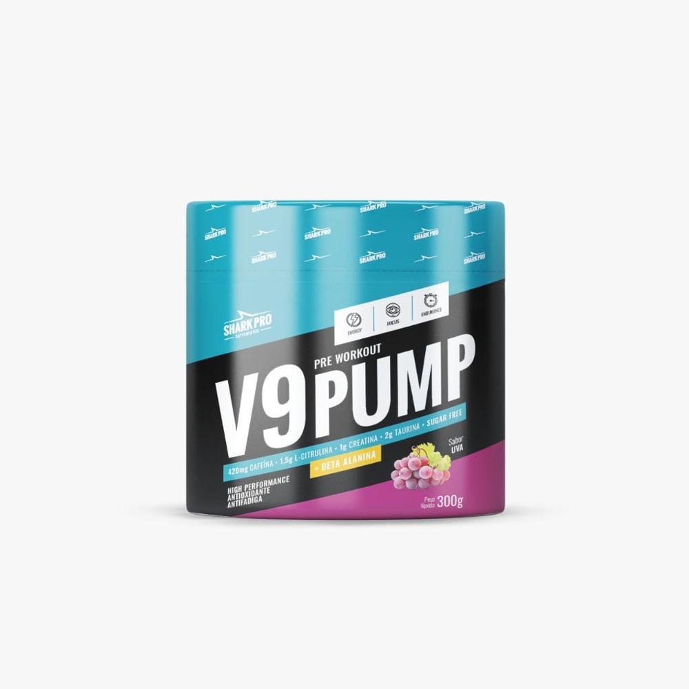 V9 pump pre workout sabor uva (pré treino)