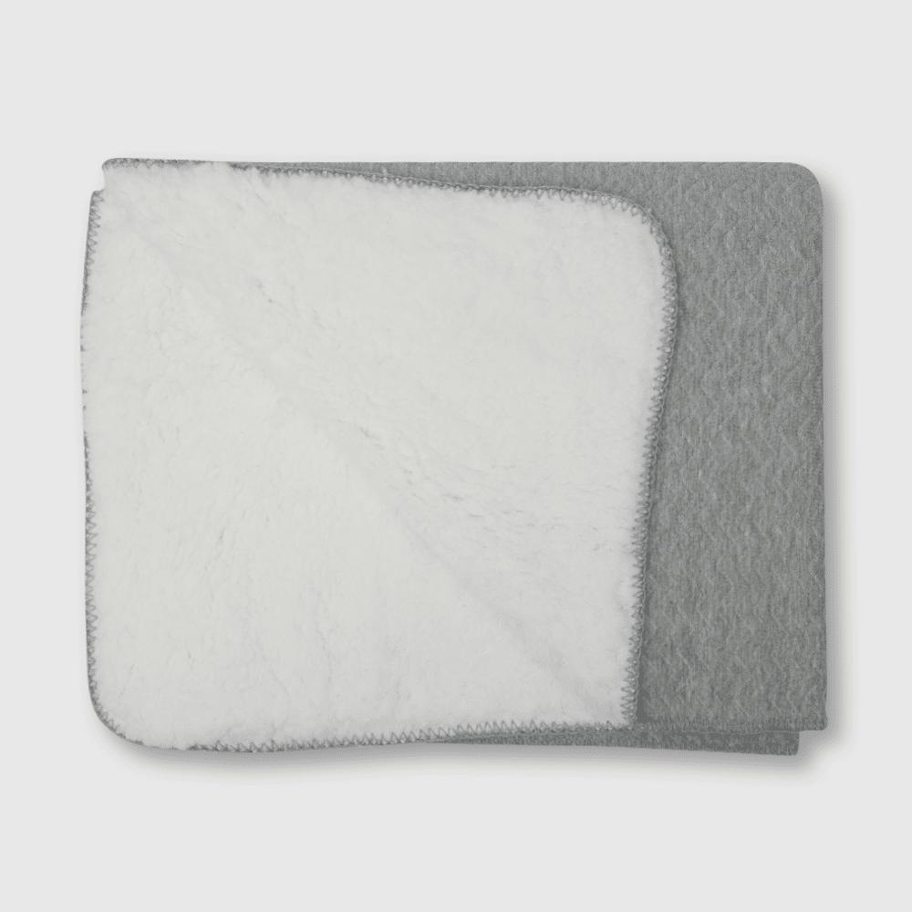 Manta de bebé 90 x 75 cm. gris talla unica