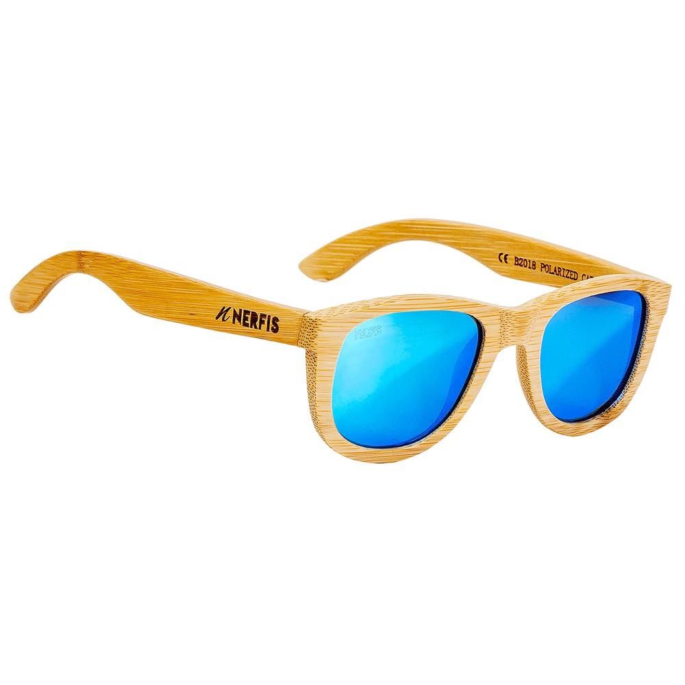 Anteojos de sol bambú natural blue ancho 147, largo 148, alto 51 mm