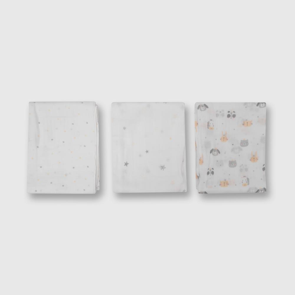 Pañal de bebe 3 pack blanco talla unica