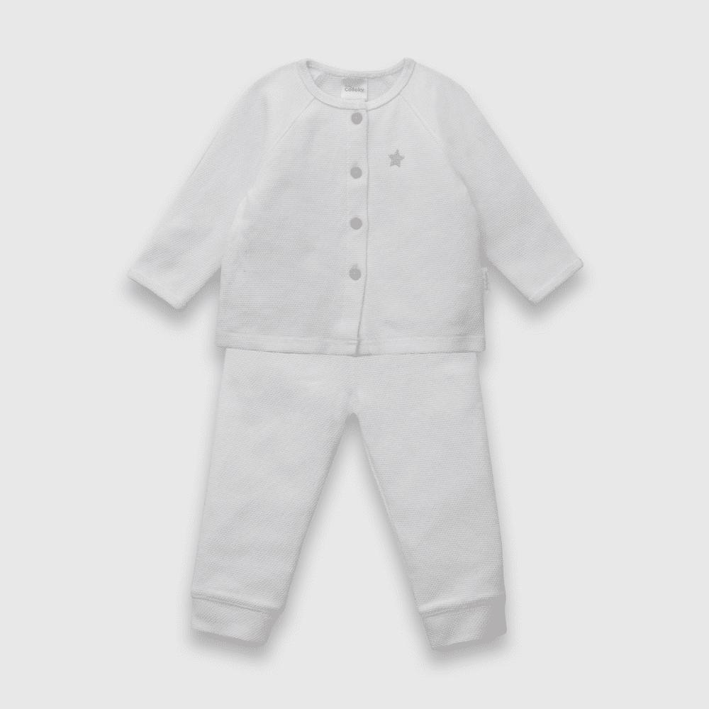 Conjunto de bebé niño color blanco (0 a 6 meses)