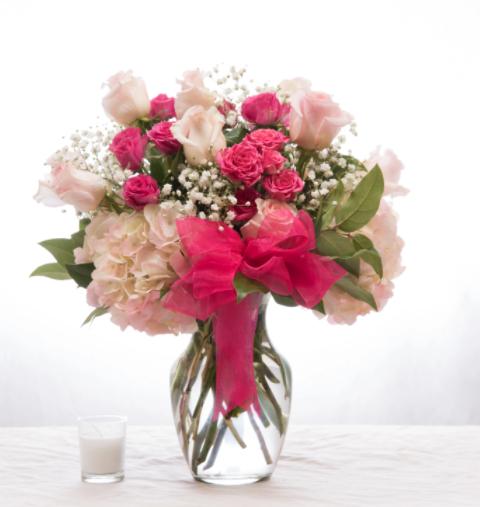 Pretty in pink 1 arrangement