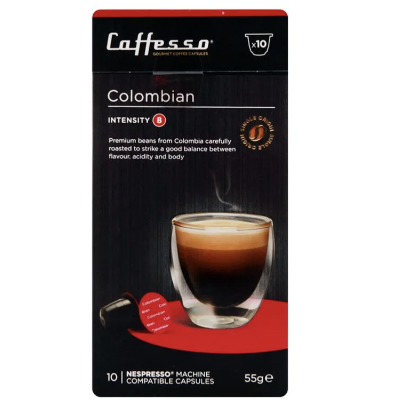 Cápsulas Nespresso colombian