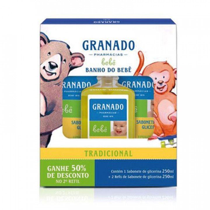 Kit banho bebê tradicional granado