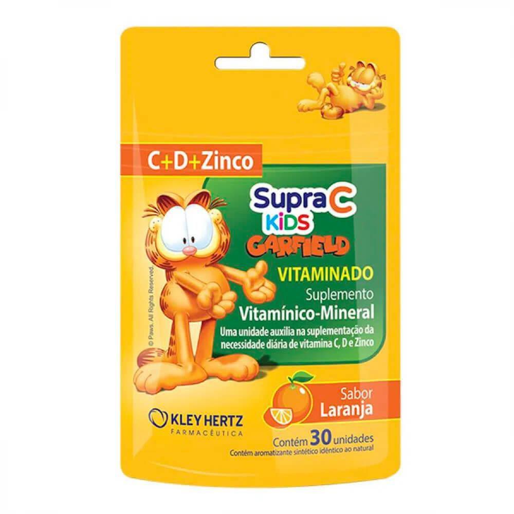 Suplemento vitamínico Supra C kids Garfield sabor laranja