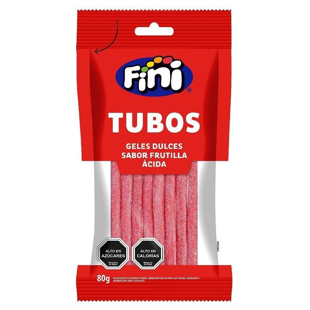 Tubos frutilla ácida