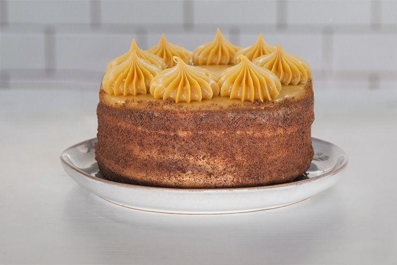Torta Brownie, Manjar Blanco & Frambuesa Entera (10 personas)