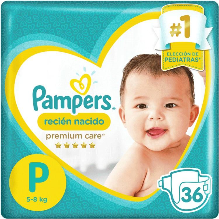 Pañales desechables premnium recién nacido talla P